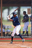 GCL Tigers East center fielder Jose Gonzalez (30) at bat during a game against the GCL Tigers West on August 4, 2016 at Tigertown in Lakeland, Florida.  GCL Tigers West defeated GCL Tigers East 7-3.  (Mike Janes/Four Seam Images)