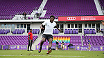 Orlando, Florida - Friday January 12, 2018: Ema Twumasi during the agility test. The 2018 adidas MLS Player Combine Skills Testing was held Orlando City Stadium.