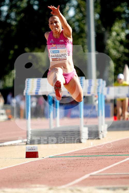 Sarrapio Martin P. in triple jump during Meeting Madrid 2012, Madrid 7 july 2012.(ALTERPHOTOS/ARNEDO)