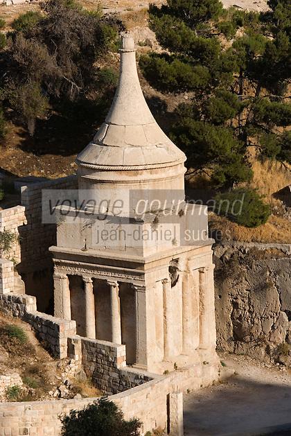 Asie/Israël/Judée/Jérusalem: Vallée du Cédron -Tombeau d'Absalom