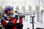 COLUMBUS, OH - MARCH 11:  Ali Weisz, of University of Mississippi, competes during the Division I Rifle Championships held at The French Field House on the Ohio State University campus on March 11, 2017 in Columbus, Ohio. (Photo by Jay LaPrete/NCAA Photos via Getty Images)
