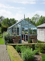 The greenhouse in the garden of Blewbury Manor