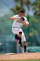 GCL Pirates pitcher Jake Sweeney (65) during a Gulf Coast League game against the GCL Red Sox on August 1, 2019 at Pirate City in Bradenton, Florida.  GCL Red Sox defeated the GCL Pirates 11-3.  (Mike Janes/Four Seam Images)