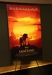 "Movie Poster at the Broadway screening of the Motion Picture Release of ""The Lion King"" at AMC Empire 25 on July 15, 2019 in New York City."