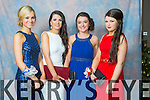 Christine Mortimer, Sarah Sheehan, Tara Fitzgerald, Lorraine Lawlor at the Mercy Mounthawk Students' Debs Ball in the Ballyroe Heights Hotel on Saturday night.