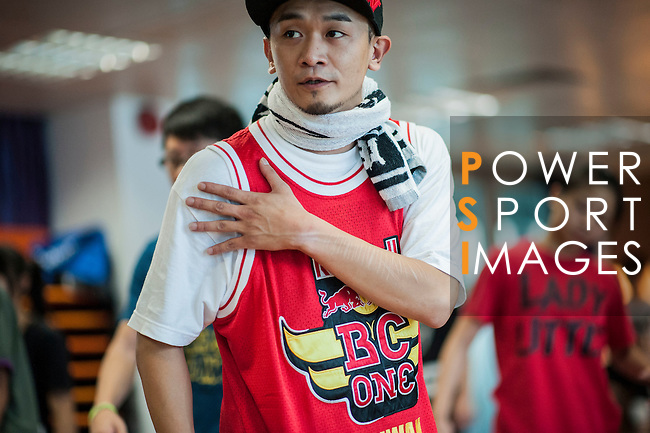 B-Boys showcase breakdancing skills during the Red Bull BC One Cypher Hong Kong at the Youth Outreach Center in Hong Kong on June 30, 2012. Photo by Victor Fraile / The Power of Sport Images for Red Bull