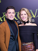 VANCOUVER, BC - OCTOBER 22: Colton Haynes and Emily Bett Rickards at the 100th episode celebration for tv's Arrow at the Fairmont Pacific Rim Hotel in Vancouver, British Columbia on October 22, 2016. Credit: Michael Sean Lee/MediaPunch