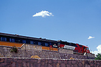 The Ferrocarril Chihuahua al Pacifico or Copper Canyon Train known as El Chepe at Divisidero, Copper Canyon, Chihuahua, Mexico
