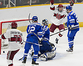 Viktor Dombrovskiy (not pictured) goal - The Harvard University Crimson defeated the Air Force Academy Falcons 3-2 in the NCAA East Regional final on Saturday, March 25, 2017, at the Dunkin' Donuts Center in Providence, Rhode Island.