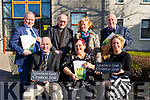 At the launch of Gradam Gnó Chiarraí and Kerry County Council's Events for Seachtain na Gaeilge in Aras an Chontae on Monday morning last. Seated Front l-r, Brendan Kennelly (Kerry's Eye), Cabrini de Barra (Glor na nGael) and Fiona Leahy (LEO Kerry). Back l-r, Roibeard O hEartain (KCC), Padraig MacPhearghusa (Clor na Gael), Rachel Ni Riada (Udaras na Gaeltachta) and Eoin MacCormaic (Glor na Gael).