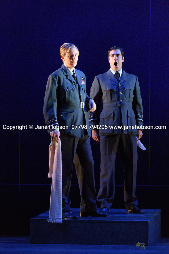 London, UK. 05.10.2016. English Touring Opera presents XERXES, by George Frideric Handel, at the Hackney Empire, prior to setting off on a UK tour. Picture shows: Julia Riley (Xerxes), Clint van der Linde (Arsamenes). Photograph © Jane Hobson.