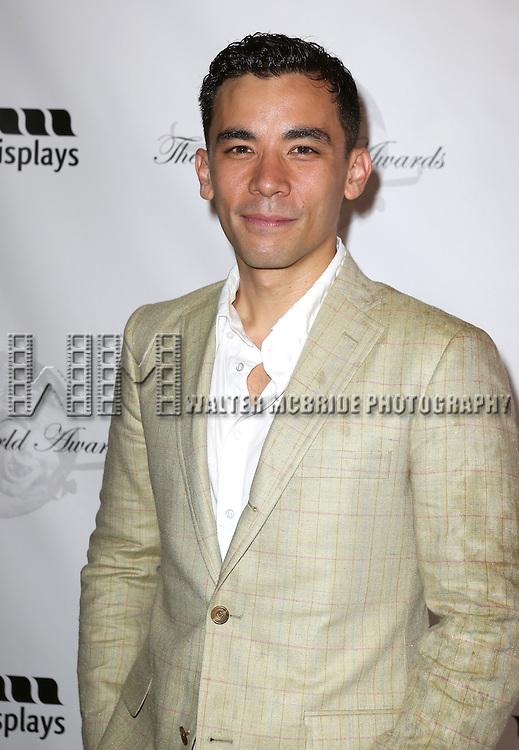 Conrad Ricamora attending the 69th Annual Theatre World Awards at the Music Box Theatre in New York City on June 03, 2013.