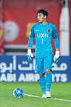 Kashima Goalkeeper Kwoun Suntae in action during the AFC Champions League 2017 Round of 16 match between Guangzhou Evergrande FC (CHN) vs Kashima Antlers (JPN) at the Tianhe Stadium on 23 May 2017 in Guangzhou, China. (Photo by Power Sport Images/Getty Images)