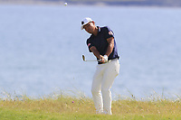 Hideto Tanihara (JPN) chips onto the 3rd green during Thursday's Round 1 of the Dubai Duty Free Irish Open 2019, held at Lahinch Golf Club, Lahinch, Ireland. 4th July 2019.<br /> Picture: Eoin Clarke | Golffile<br /> <br /> <br /> All photos usage must carry mandatory copyright credit (© Golffile | Eoin Clarke)