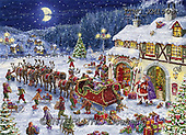Marcello, CHRISTMAS LANDSCAPES, WEIHNACHTEN WINTERLANDSCHAFTEN, NAVIDAD PAISAJES DE INVIERNO, paintings+++++,ITMCXM1503,#XL# ,puzzle ,marketplace