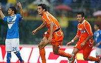 17-10-2010 Brescia italia sport calcio<br /> Brescia-Udinese Calcio Serie A<br /> nella foto Bernardo Corradi esultanza 0-1<br /> foto Prater/Insidefoto