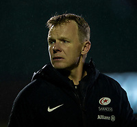 Saracens' Head Coach Mark McCall<br /> <br /> Photographer Bob Bradford/CameraSport<br /> <br /> Gallagher Premiership - Bath Rugby v Saracens - Friday 8th March 2019 - The Recreation Ground - Bath<br /> <br /> World Copyright © 2019 CameraSport. All rights reserved. 43 Linden Ave. Countesthorpe. Leicester. England. LE8 5PG - Tel: +44 (0) 116 277 4147 - admin@camerasport.com - www.camerasport.com