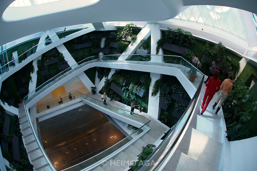 Inside the pyramid-shaped Palace of Peace & Harmony by star architect Sir Norman Foster.