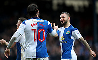Blackburn Rovers' Adam Armstrong celebrates scoring his sides third goal with his fellow team mates <br /> <br /> Photographer Rachel Holborn/CameraSport<br /> <br /> The EFL Sky Bet League One - Blackburn Rovers v Blackpool - Saturday 10th March 2018 - Ewood Park - Blackburn<br /> <br /> World Copyright &copy; 2018 CameraSport. All rights reserved. 43 Linden Ave. Countesthorpe. Leicester. England. LE8 5PG - Tel: +44 (0) 116 277 4147 - admin@camerasport.com - www.camerasport.com