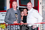 Tankers Bar: Kieran Donehy cutting the tape at the re-opening of Tankers Barwhich is under new management of Marina Burke & Donall Browne on Friday night last . Also in the photo is Daisy Walsh.