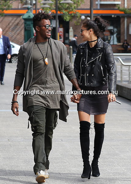 15 SEPTEMBER 2016 SYDNEY, AUSTRALIA<br /> WWW.MATRIXPICTURES.COM.AU<br /> <br /> NON EXCLUSIVE <br /> <br /> Shanina Shaik pictured with her boyfriend DJ Ruckus arriving at Otto for lunch. <br /> <br /> *ALL WEB USE MUST BE CLEARED*<br /> <br /> Please contact prior to use:  <br /> <br /> +61 2 9211-1088 or email images@matrixmediagroup.com.au