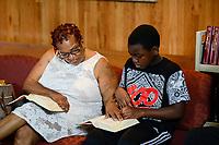 USA Chicago, South Side, afroamerikanische Gemeinde der katholischen Kirche St. Elizabeth, heilige Messe