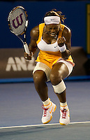 Serena Williams (USA) (1) against Justine Henin (BEL) in the Final of the Womens Singles. Williams beat Henin  .6-4 3-6 6-2..International Tennis - Australian Open Tennis - Sat 30  Jan 2010 - Melbourne Park - Melbourne - Australia ..© Frey - AMN Images, 1st Floor, Barry House, 20-22 Worple Road, London, SW19 4DH.Tel - +44 20 8947 0100.mfrey@advantagemedianet.com