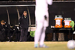 24 November 2013: Wake Forest head coach Jay Vidovich. The Wake Forest University Demon Deacons played the Naval Academy Midshipmen at Spry Stadium in Winston-Salem, NC in a 2013 NCAA Division I Men's Soccer Tournament Second Round match. Wake Forest won the game 2-1.
