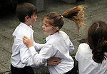 17-3-2014: Young dancers during the St. Patrick's Day Parade in Killarney County Kerry on Monday.<br /> Picture by Don MacMonagle