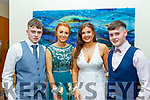 L-R Neil McAuliffe, Grainne O'Connor, Grace Daly and Joe McCarthy at the Presentation Secondary school Castleisland Debs last Friday night in the Ballyroe heights Hotel, Tralee.