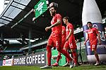 Marco Hoeger (1. FC Koeln), Noah Katterbach (1. FC Koeln) und Mere Jorge (1. FC Koeln) gehen zum Aufwaermen auf den Platz.<br /> <br /> Sport: Fussball: 1. Bundesliga:: nphgm001:  Saison 19/20: 34. Spieltag: SV Werder Bremen - 1. FC Koeln, 27.06.2020<br /> <br /> Foto: Marvin Ibo Güngör/GES/Pool/via gumzmedia/nordphoto