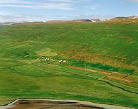 Engihlíð og Þoroddsstaður séð til suðvesturs, Þingeyjarsveit áður Ljósavatnshreppur / Engihlid and Thoroddsstadur viewing southwest, Thingeyjarsveit former Ljosavatnshreppur.