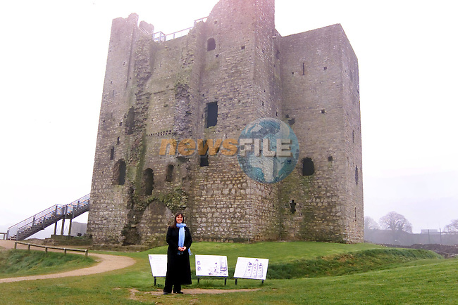 Nicola McDohah The Tour Guide of Trim Castle...Picture Tony Campbell  Newsfile...This Picture is sent to you by:..Newsfile Ltd.The View, Millmount Abbey, Drogheda, Co Louth, Ireland..Tel: +353419871240.Fax: +353419871260.GSM: +353862500958.ISDN: +353419871010.email: pictures@newsfile.ie.www.newsfile.ie