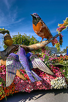 Rose Parade;  Pasadena; , CA, Tournament of Roses, LA California; Los Angeles High dynamic range imaging (HDRI or HDR)