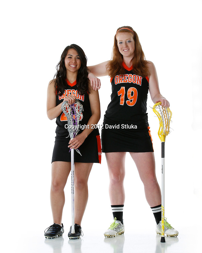 Photos of the 2012 Oregon High School Girls LaCrosse Team. (Photo by David Stluka)