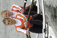 Munich, GERMANY, 2006, FISA, Rowing, World Cup, NED W2X Bow Mette Beugelsdijk and Marit van Eupen,  held on the Olympic Regatta Course, Munich, Thurs. 25.05.2006. © Peter Spurrier/Intersport-images.com,  / Mobile +44 [0] 7973 819 551 / email images@intersport-images.com..[Mandatory Credit, Peter Spurier/ Intersport Images] Rowing Course, Olympic Regatta Rowing Course, Munich, GERMANY