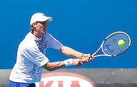 ANDREAS SEPPI (ITA) against RICHARD GASQUET (FRA) in the first round of the Men's Singles. Richard Gasquet beat Andreas Seppi 6-3 3-6 6-3 6-1 ..17/01/2012, 17th January 2012, 17.01.2012..The Australian Open, Melbourne Park, Melbourne,Victoria, Australia.@AMN IMAGES, Frey, Advantage Media Network, 30, Cleveland Street, London, W1T 4JD .Tel - +44 208 947 0100..email - mfrey@advantagemedianet.com..www.amnimages.photoshelter.com.