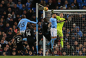 3rd December 2017, Etihad Stadium, Manchester, England; EPL Premier League football, Manchester City versus West Ham United; Adrian of West Ham punches clear from a free kick