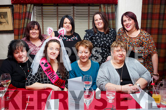 Hen party and Birthday party of Aisling O&rsquo;Donoghue (Glenflesk) in Cassidys Restaurant on Saturday night last. Seated l-r, Margo O Donoghue, Aisling O&rsquo;Donoghue, Mary O&rsquo;Donoghue and Catherine Murphy.<br /> Back l-r, Brenda Culloty, Mairead Falvey, Nicola O&rsquo;Rourke and Katie Murphy.