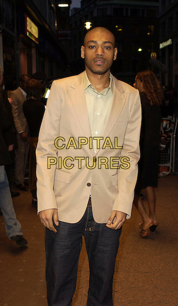 "KANO.""Rollin' With The Nines"" - UK premiere at the Odeon Leicester Square, London, UK..April 19th, 2006.Ref: CAN.half length beige jacket .www.capitalpictures.com.sales@capitalpictures.com.©Capital Pictures"
