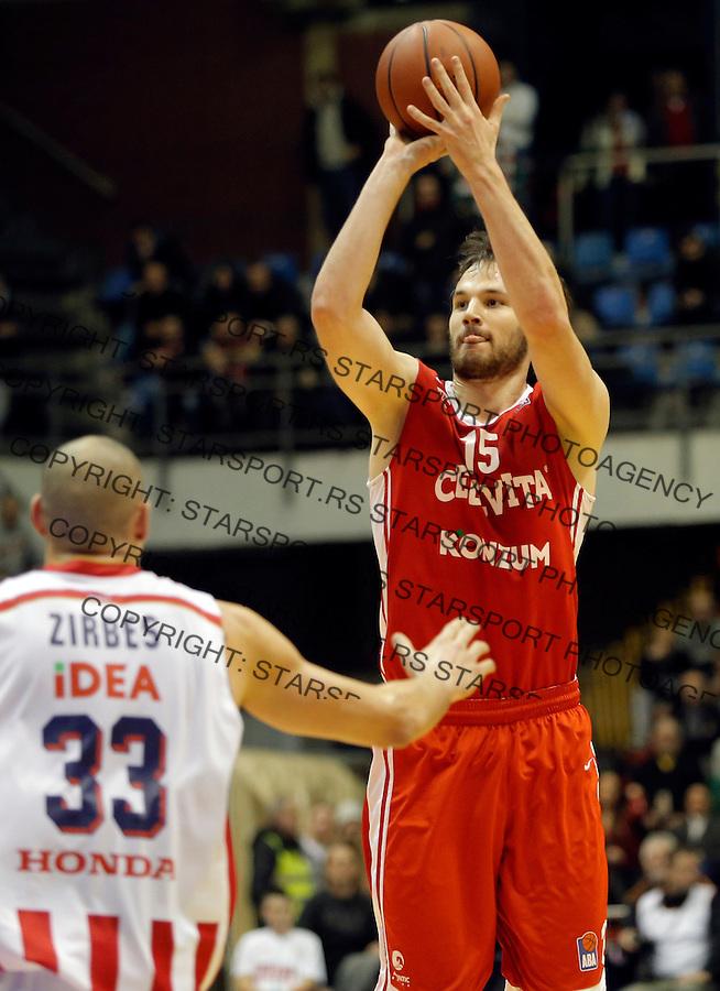Miro Bilan Crvena Zvezda - Cedevita kosarka ABA regionalna liga 4.1.1016. Januar 4. 2016. (credit image & photo: Pedja Milosavljevic / STARSPORT)