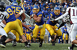 BROOKINGS, SD - NOVEMBER 6: Tyler Duffy #25 of South Dakota State University finds a hole to run through against Missouri State in the first quarter of their game Saturday afternoon at Coughlin Alumni Stadium in Brookings. (photo by Dave Eggen/Inertia)