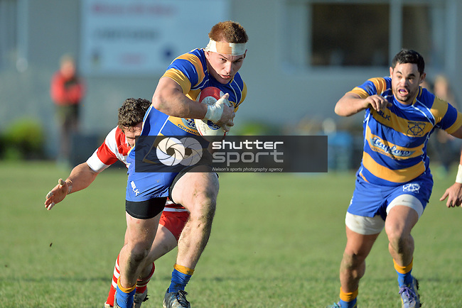 NELSON, NEW ZEALAND - JUNE 13: Tasman Trophy Rugby final match between Waimea Old Boys and Wanderers at Jubilee Park in Richmond on June 13, 2015 in Nelson, New Zealand. (Photo by Barry Whitnall/Shuttersport Limited