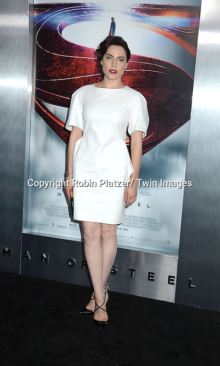 Anje Traue attends the World Premiere of &quot;Man of Steel&quot; on June 10, 2013 at Alice Tully Hall in New York. The movie stars <br /> Henry Cavill, Amy Adams, Michael Shannon, Kevin Costner, Laurence Fishburne, Anje Traue, Ayelet Zurer, Christopher Meloni, Russell Crowe, Dylan Sprayberry, Michael Kelly,  Cooper Timberline, Christina Wren and Rebecca Buller.