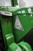 Ceaser indentification datatag fitted to a John Deere tractor