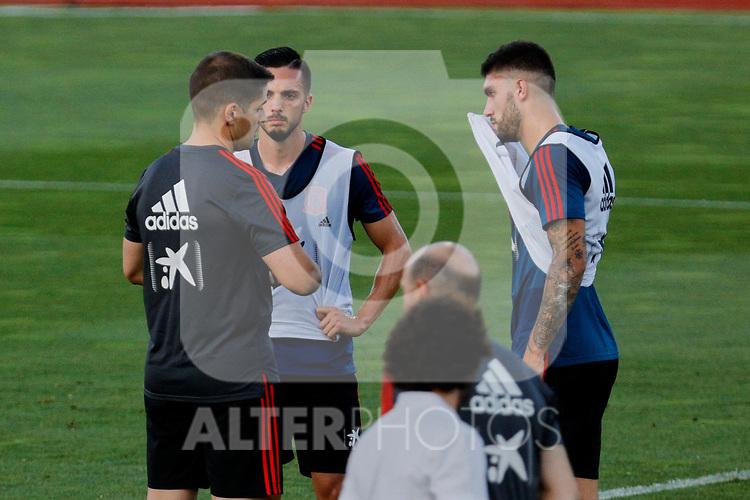 Robert Moreno, Pablo Sarabia and Unai Nunez during the Trainee Session at Ciudad del Futbol in Las Rozas, Spain. September 02, 2019. (ALTERPHOTOS/A. Perez Meca)