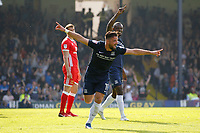 GOAL - Stephen McLaughlin of Southend United adds a third goal during the Sky Bet League 1 match between Southend United and MK Dons at Roots Hall, Southend, England on 21 April 2018. Photo by Carlton Myrie.