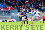 Kevin McCarthy  East Kerry goes past Mikey Boyle Dingle during the County Championship game in Fitzgerald Stadium on Sunday