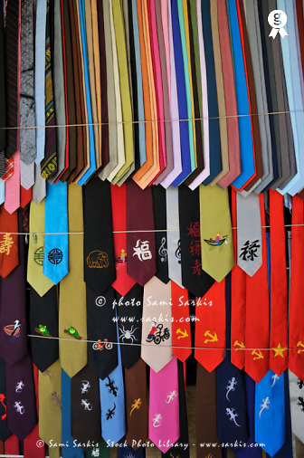 Neckties displayed in store (Licence this image exclusively with Getty: http://www.gettyimages.com/detail/98178989 )