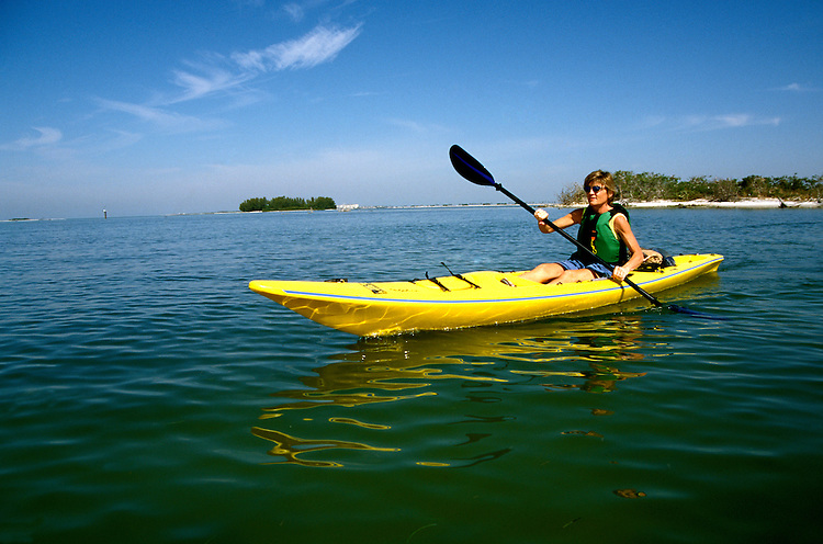 Florida: kayaking near Clearwater, model released.  Photo: flcent101.Photo copyright Lee Foster, 510/549-2202, lee@fostertravel.com, www.fostertravel.com